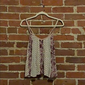 American Eagle printed floral cami tank top